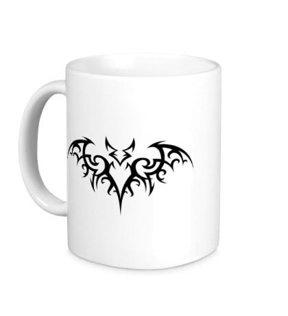 Керамическая кружка Татуировка Бэтмена