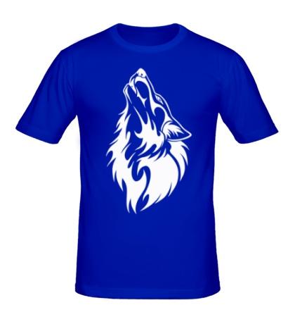 Мужская футболка Воющий волк