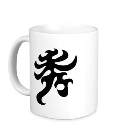 Керамическая кружка Элегантность: японский иероглиф