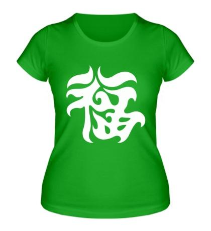 Женская футболка Удача: японский иероглиф