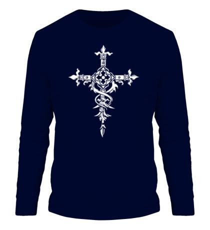 Мужской лонгслив Готический крест
