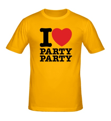Мужская футболка I love party