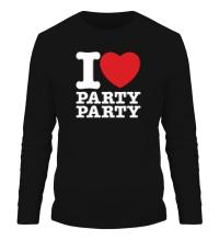 Мужской лонгслив I love party