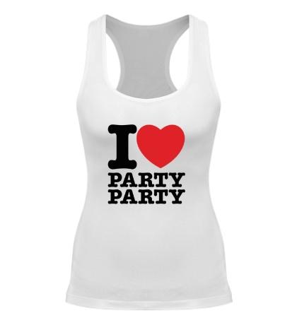Женская борцовка I love party