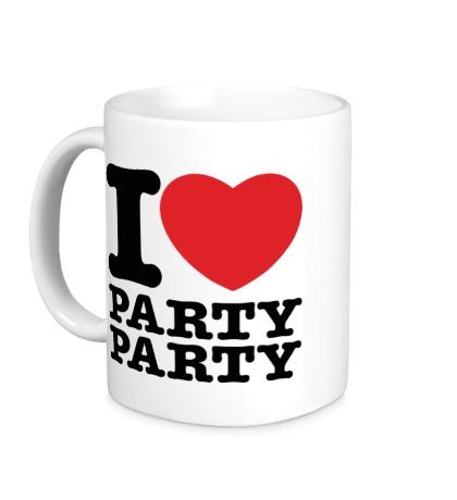 Керамическая кружка I love party