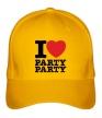 Бейсболка «I love party» - Фото 1