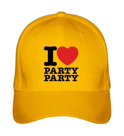 Бейсболка I love party