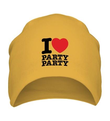 Шапка I love party