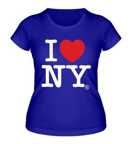 Женская футболка I love NY Classic