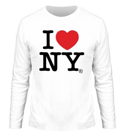 Мужской лонгслив I love NY Classic