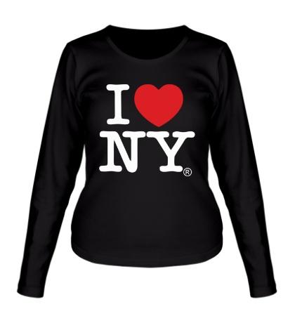 Женский лонгслив I love NY Classic