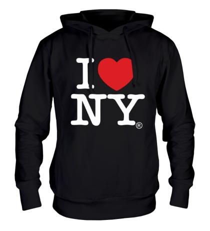 Толстовка с капюшоном I love NY Classic