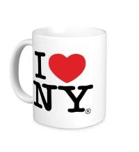 Керамическая кружка I love NY Classic