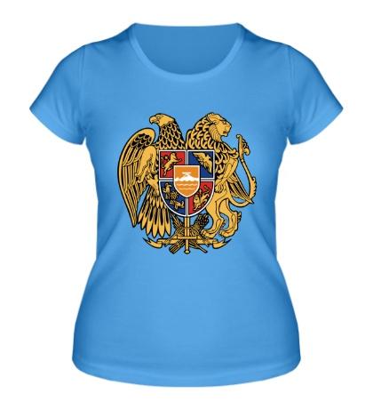 Женская футболка Герб Армении