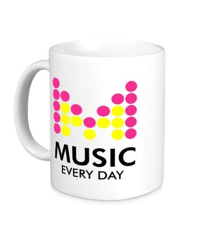 Керамическая кружка Music Every Day