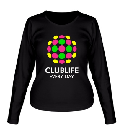 Женский лонгслив Club Life Every Day