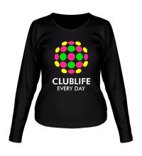 Женский лонгслив Club Life Every Day