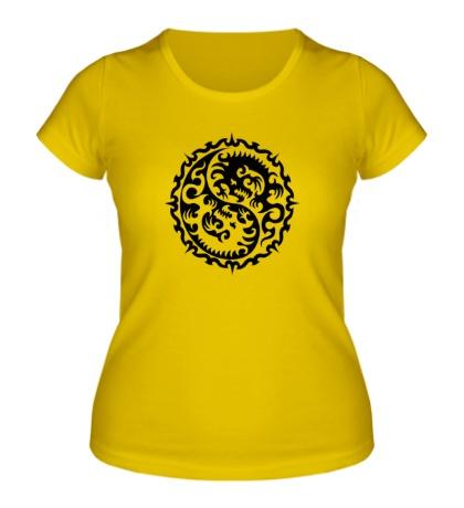 Женская футболка Символ дракона