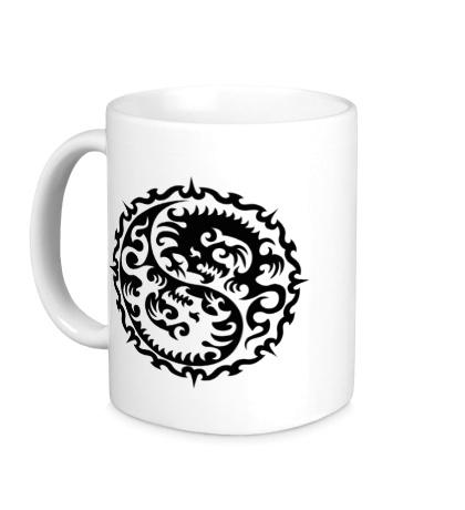 Керамическая кружка Символ дракона