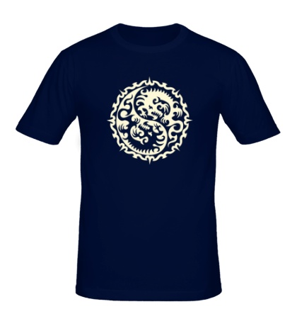Мужская футболка Символ дракона, свет