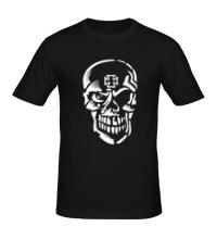 Мужская футболка Череп тамплиера