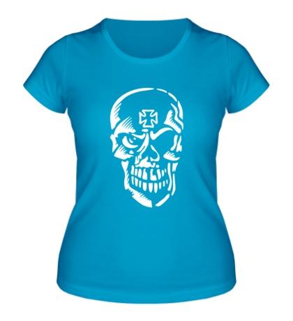 Женская футболка Череп тамплиера