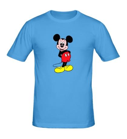 Мужская футболка Довольный Микки Маус
