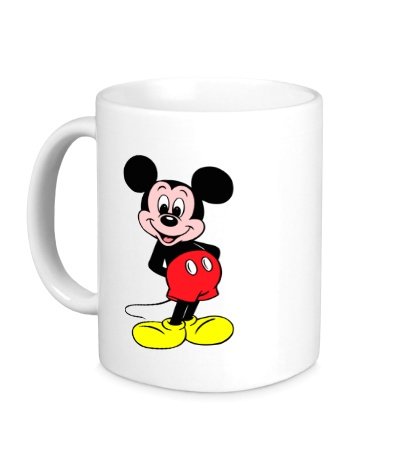 Керамическая кружка Довольный Микки Маус