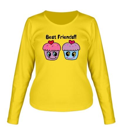 Женский лонгслив Best Friends