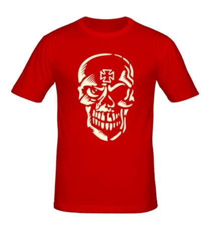 Мужская футболка «Череп тамплиера, свет»