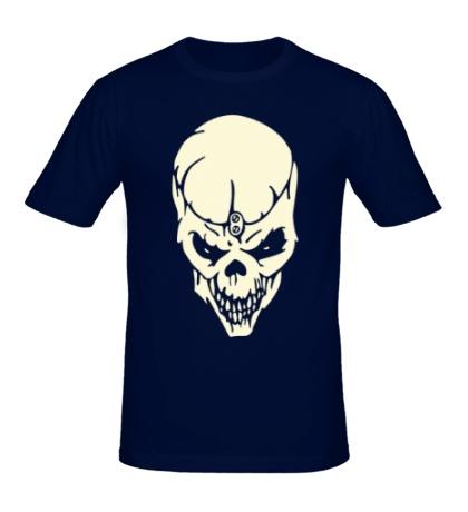 Мужская футболка Череп мага, свет