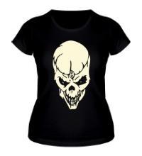Женская футболка Череп мага, свет
