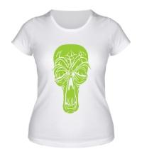 Женская футболка Старенький череп
