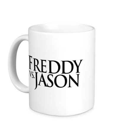 Керамическая кружка Freddy vs Jason
