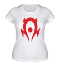 Женская футболка WoW: Horde