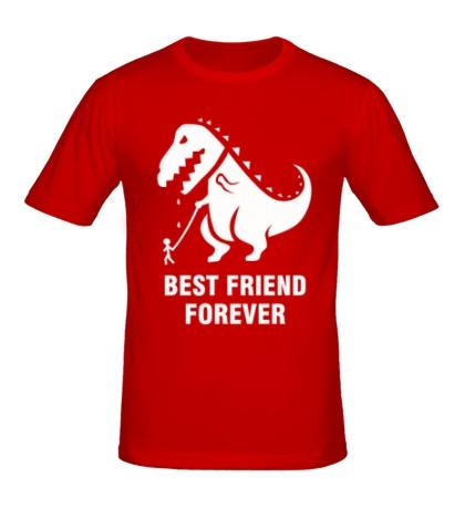 Мужская футболка Godzilla best friend