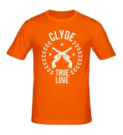 Мужская футболка Clyde, true love