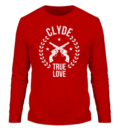Мужской лонгслив Clyde, true love