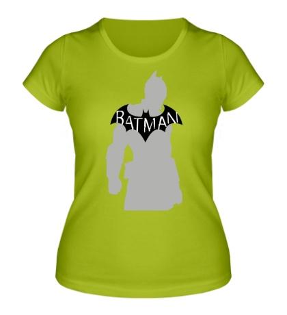 Женская футболка Силуэт Бэтмена