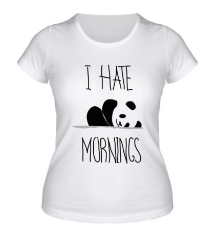 Женская футболка «Ненавижу утро!»