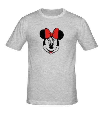 Мужская футболка «Лицо Минни Маус»