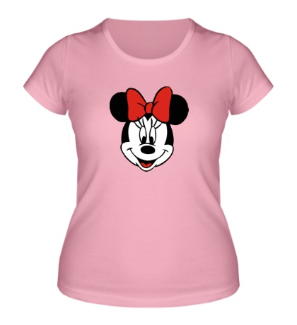 Женская футболка Лицо Минни Маус