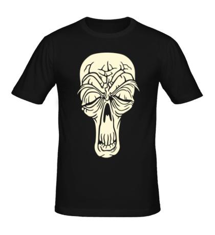 Мужская футболка Старенький череп свет