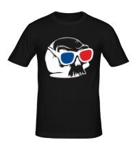 Мужская футболка Череп в 3D очках
