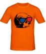 Мужская футболка «Череп в 3D очках» - Фото 1