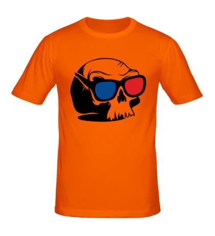 Мужская футболка «Череп в 3D очках»