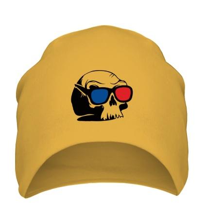 Шапка Череп в 3D очках