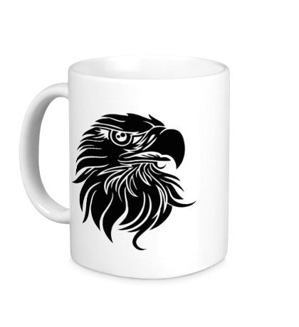 Керамическая кружка Голова орла