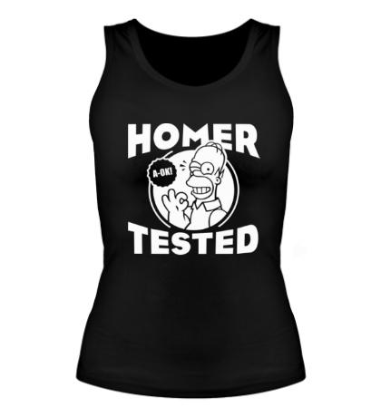 Женская майка Homer tested