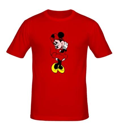 Мужская футболка Стесняшка Минни Маус